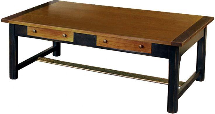 Table basse rectangulaire merisier 2 tiroirs prix Soldes Table Basse Destock Meubles 599.00 € TTC au lieu de 1 089.00 €