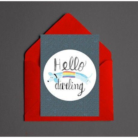 Cartão - Hello Darling