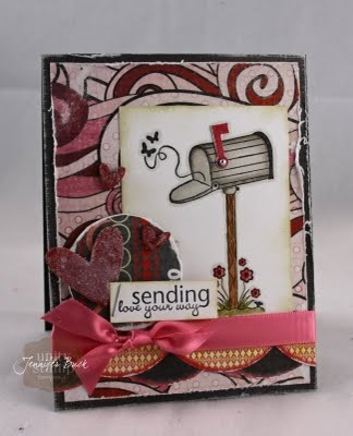 unity stamp company. kit used - Sending My Love - card created by unity design team member Jen Buck.: Unity Stamps, Cards Ideas, Love Cards, Stamps Sets, Cards Valentines, Note Cards, Stamps Company, Cards Designs, Cards Create
