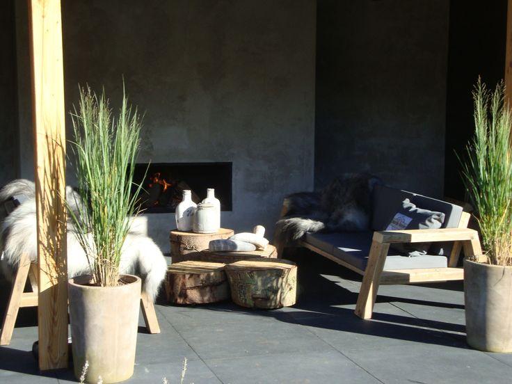 Lounge plek inrichting door Natuurlijke Woonsfeer.