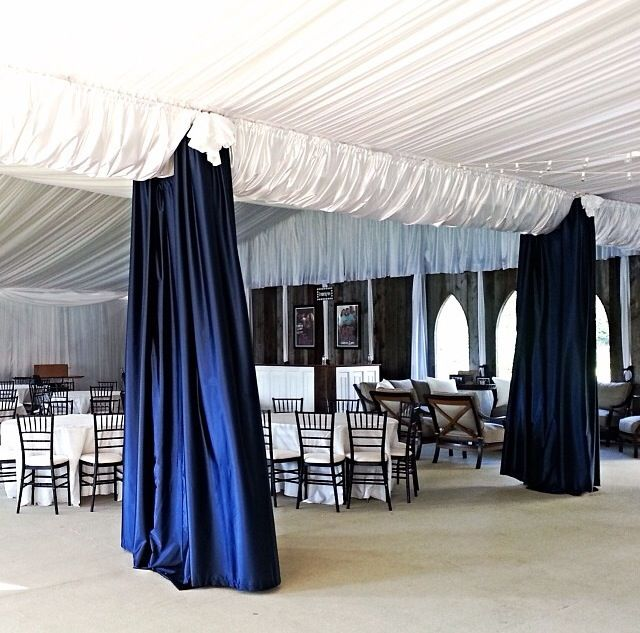 The Colors For This Wedding Were Navy Blue And White