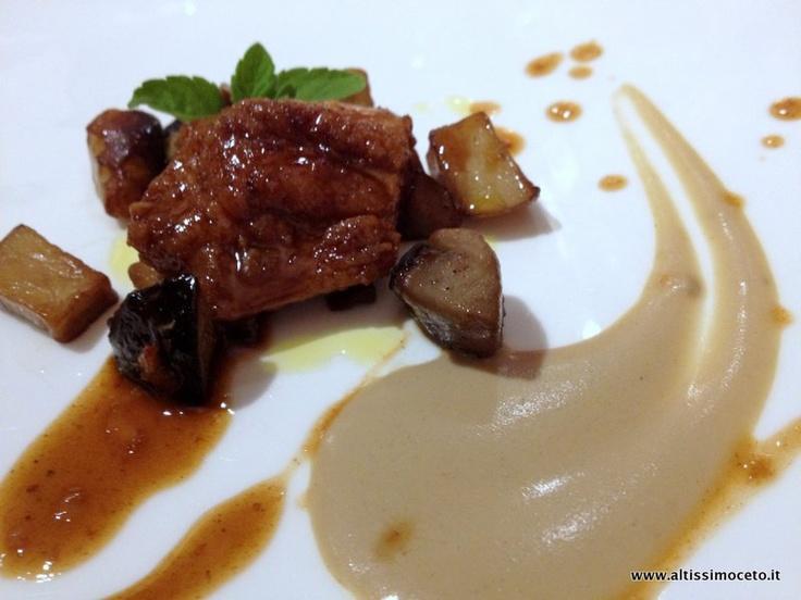 Animelle di vitella allo zenzero con funghi porcini - Enoteca Pinchiorri - Firenze