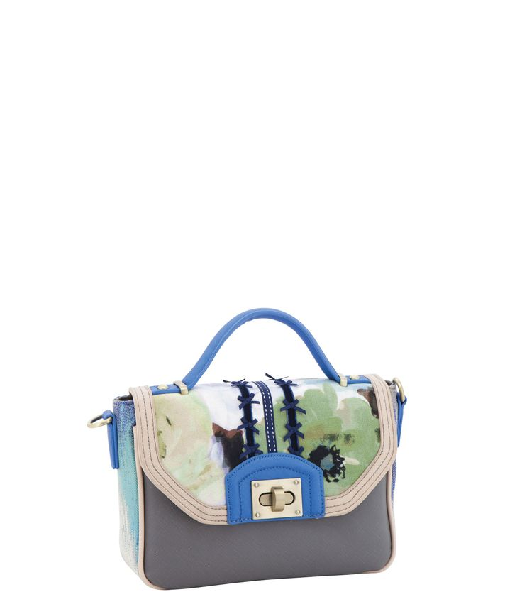 Spencer and Rutherford - Handbags - Cross Body Satchel - Norah - Watercolour