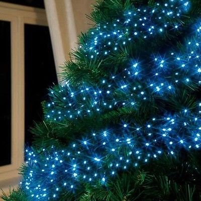 Premier Christmas Lights Cluster Lights Multi-Action 288 LED Blue