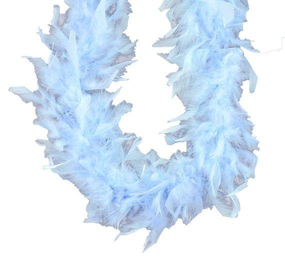 80 Gram Chandelle Feather Boa 72 Aqua Blue Cheap Tutus Baby Headbands Pastel Blue