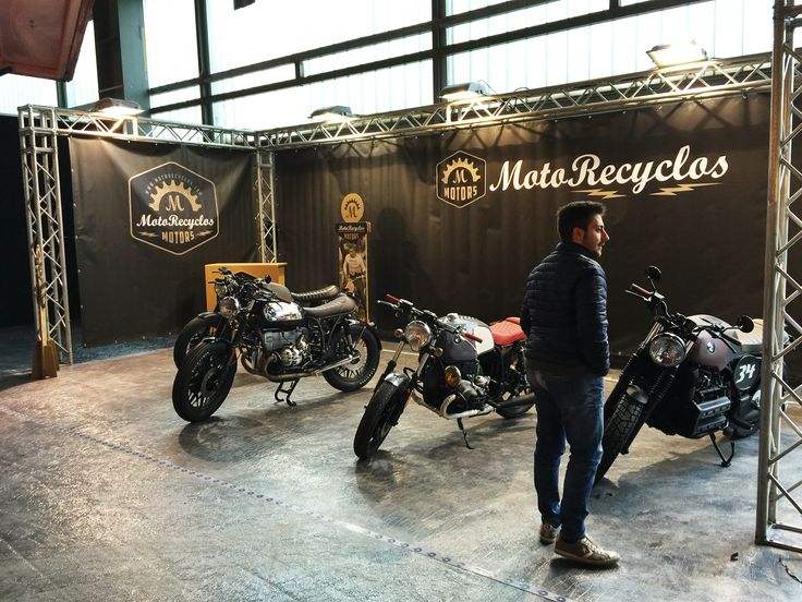 Mounting stand at Verona Motor Bike Expo