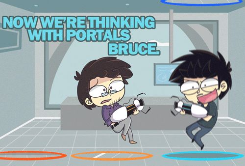 Tony Stark and Bruce Banner Science Bros