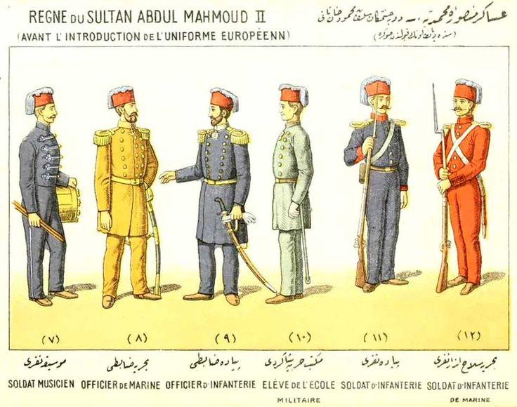 Униформа турецкой армии после реформы 1832 года. Время правления султана Махмуда II.