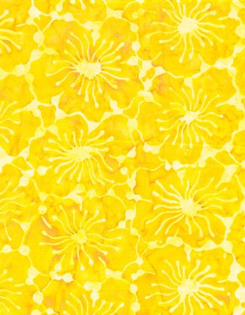 yellow floral pattern - photo #11