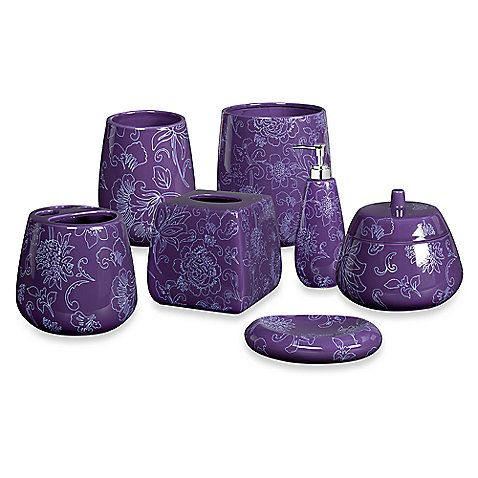 Creative bath fine lines ceramic bath accesories for Stardust purple bath collection