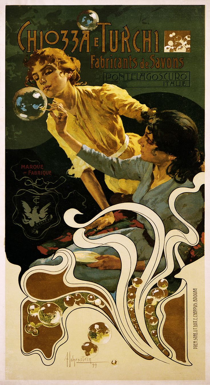 Adolfo Hohenstein: 1899 advertising poster