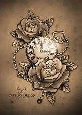 ... Pocket watch tattoos, Pocket