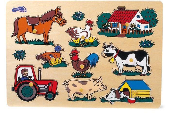 Legler Setzpuzzle Bauerei Kinderpuzzle Steckpuzzle Holzspielzeug Spielzeug