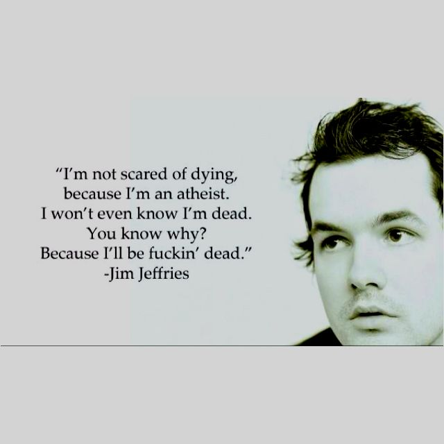 Simple but elegant quote about atheist death.