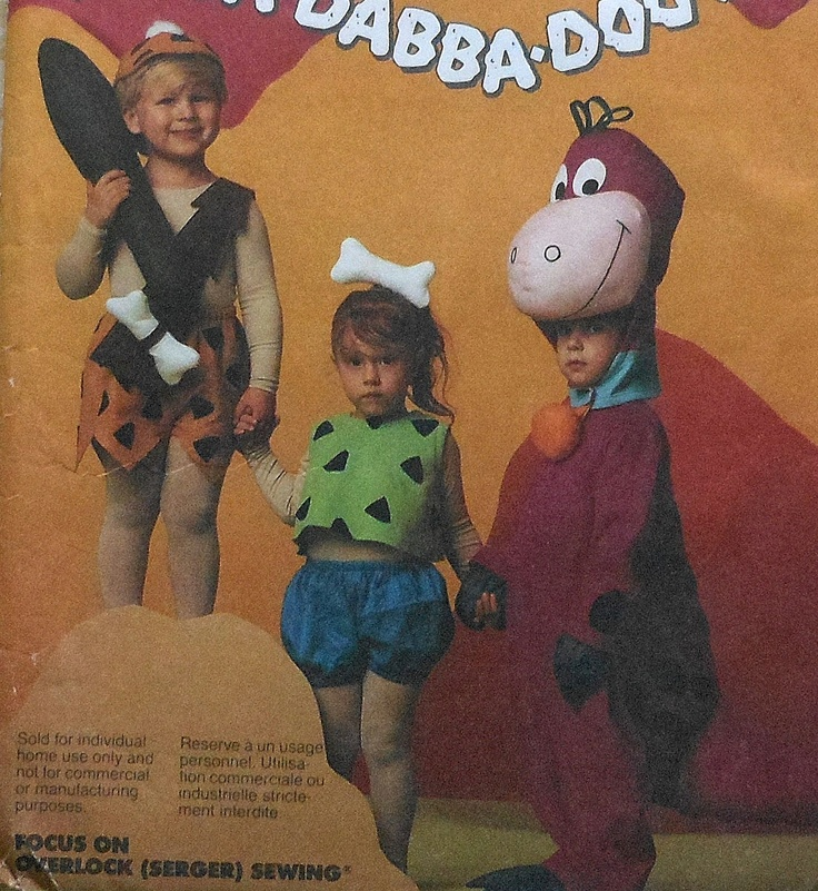 The Flintstones Bam-Bam Pebbles Dino Costume Sewing Pattern
