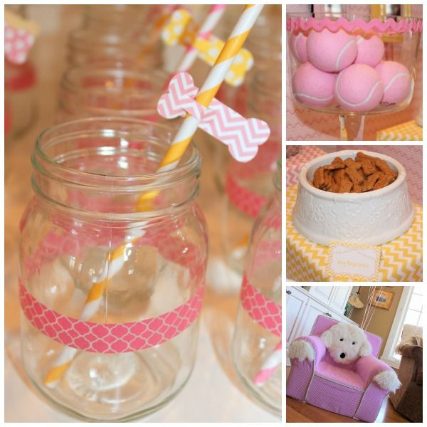 Pink and Yellow Puppy Party - Giggles Galore