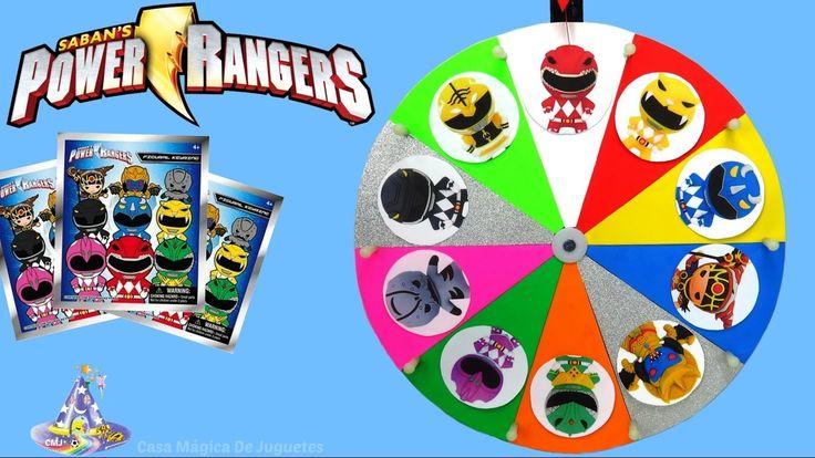 Juego de Ruleta Sorpresa de Power Rangers en Español