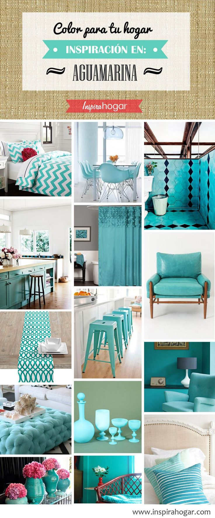 Paredes con color y accesorios neutrales - 10 Colores Para Casas Con Estilo 2017