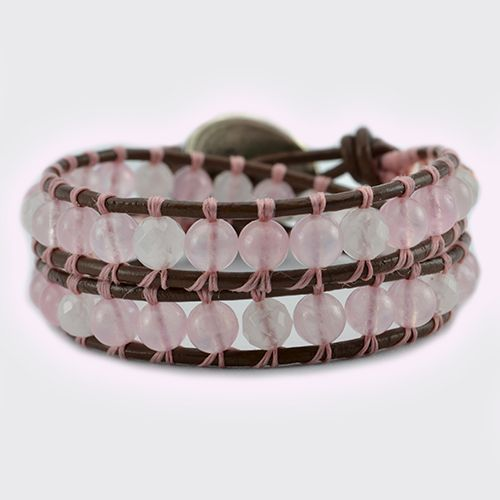 The Love wrap bracelet has been designed with Brazil Rose Quartz Gemstones and Swarovski Crystals. The ultimate LOVE bracelet. This bracelet is the perfect companion to our Love Necklace and they look wonderful worn together. Created to help you open your heart. Rose Quartz is the stone of unconditional Love and infinite Peace. It is the most <…