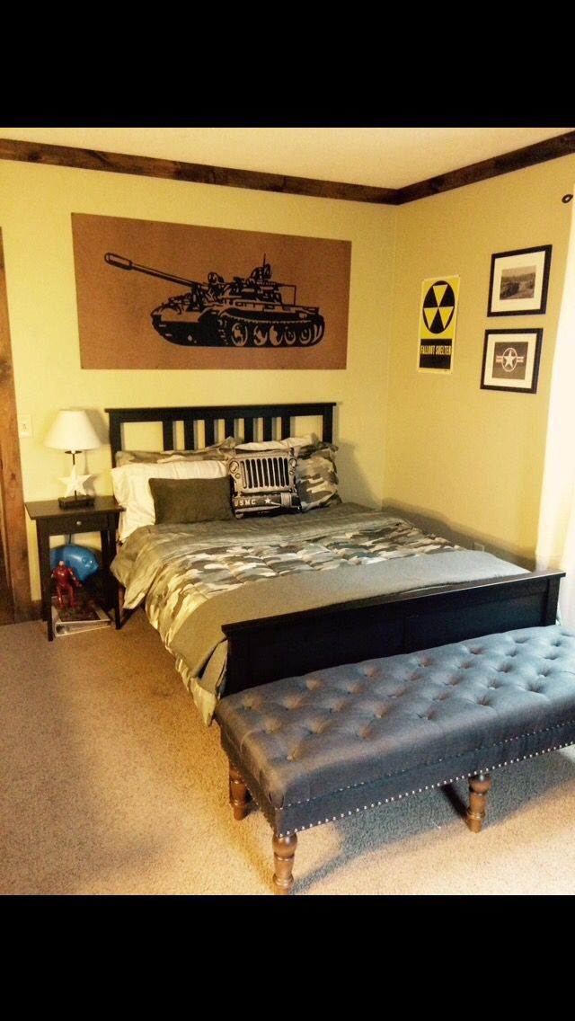 Boys military themed room before and after boys military for Army themed bedroom ideas