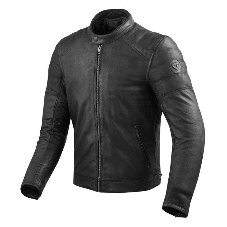 REV'IT Stewart Leather Jacket - Black | Motorcycle Jackets | FREE UK delivery - The Cafe Racer