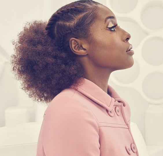 Issa Rae, Hairstyle, Natural Hair Style, Black Hair, Healthy Hair, Hair Style Inspiration, Black Girl, Black Women, Long Natural Hair, Curly Hair