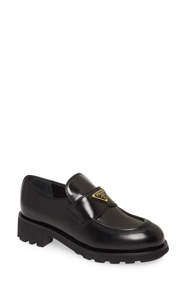 Prada Logo Penny Loafer available at #Nordstrom in 2020 ...