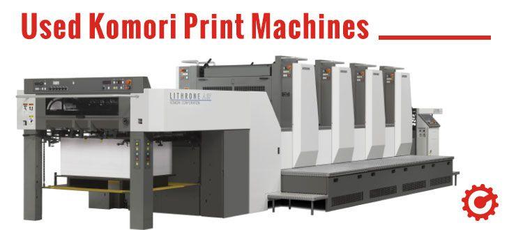 Used Komori Print Machines for Sale   Printing Machines