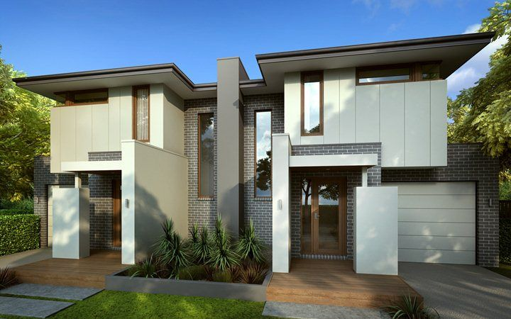 Duplex designs dual occupancy home designs metricon for Duplex ideas