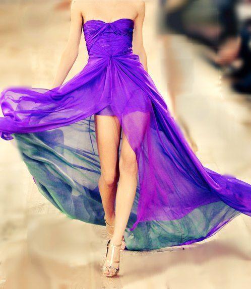 Vestido Largo en Morado