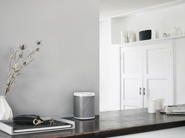 Multi-room wireless speakers system. Play:1 in your living room. Play:5 in your kitchen.