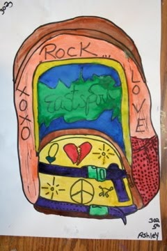 Art Project Girl: Backpacks!  backpack drawings from life. This would be awesome for contour since our kids are allowed to bring bags to class now!