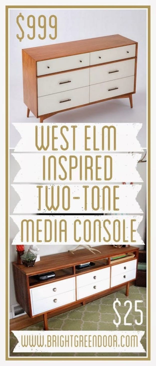 32 Diy Tv And Media Consoles For Entertainment In Style Crafts Tutorials Pinterest Furniture Home