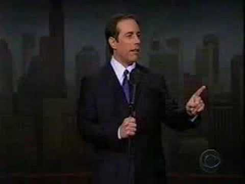 Halloween Joke Jerry Seinfeld returns to Comedy on the Letterman show