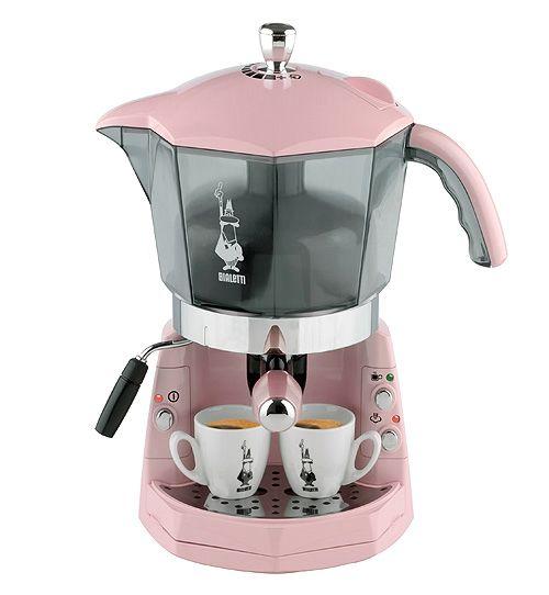 @Angela Nelson you need get this coffee machine.. so you Bialetti Pink Mokona Coffee Machine