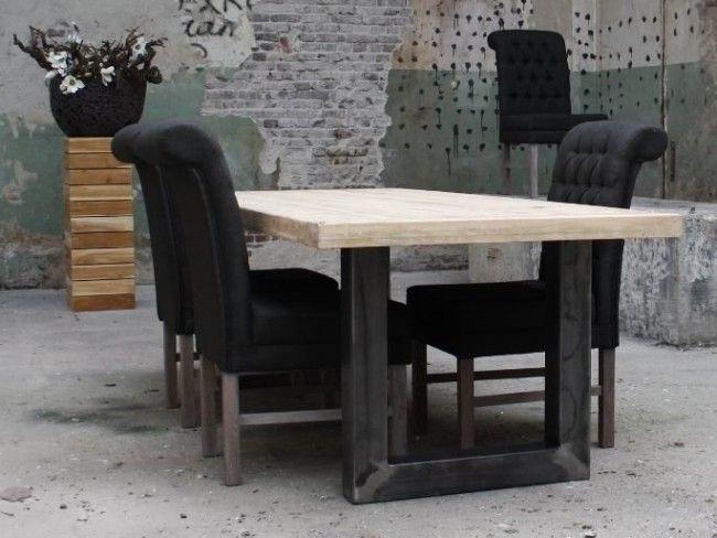 Steigerhouten tafel Jemen - Industriële meubelen - Woning