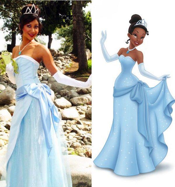 Princess tiana blue dress costume google search for Princess tiana wedding dress