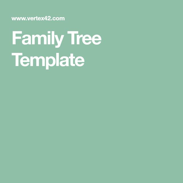Best 25+ Family tree templates ideas on Pinterest Family trees - family tree example