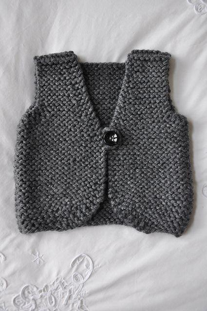 Perfect baby garter stitch vest