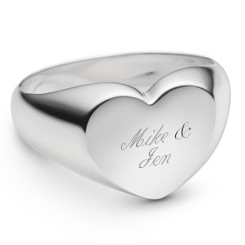 Size 7 Sterling Silver Heart Ring at Things Remembered I love rings!