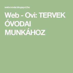 Web - Ovi: TERVEK ÓVODAI MUNKÁHOZ