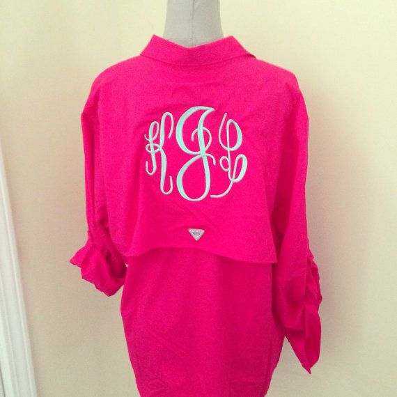 Columbia PFG long sleeve monogrammed shirts by FreckledBerrys
