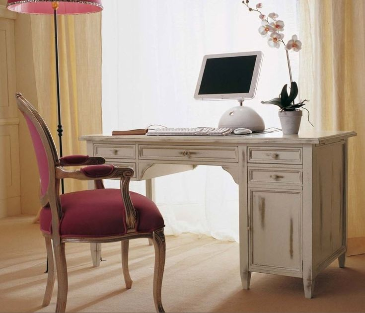 modern writing deskwriting desk with pink chair