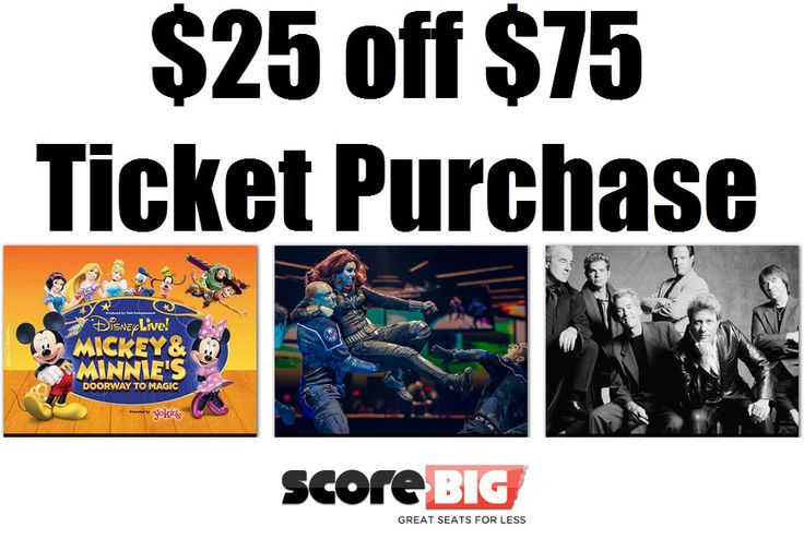 ScoreBig: $25 off $75 Purchase = Cheap Event Tickets **New Customers Only** - http://www.swaggrabber.com/?p=293201