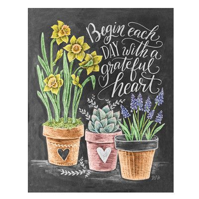 Begin Each Day with a Grateful Heart - Print #everyday #Garden #Gifts