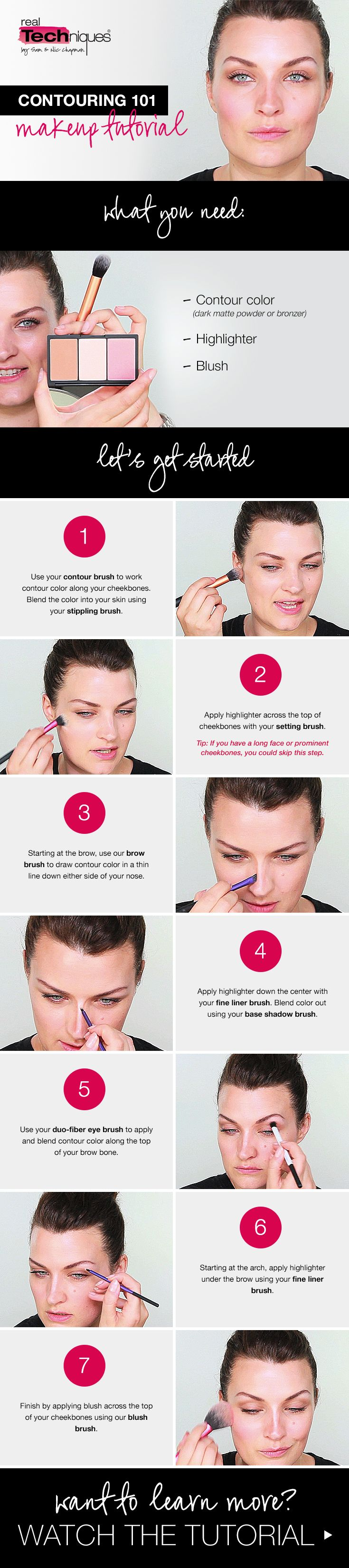This Stepbystep Breakdown Of Our Contouring 101 Makeup Tutorial Shows You  How