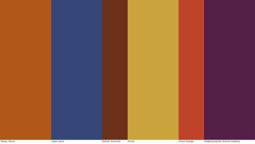 """AH17/18 - La saison s'annonce glamour. Des brillances électrisent une gamme de tons sexy qui prolongent l'été. Le chic déjanté des coloris sensuels remixe les mélodies de la Tamla Motown, le label mythique de la soul music.  - Nelly Rodi - """"Soul"""" - Tendance couleur FW 2017-18 - Tendances (#703613)"""
