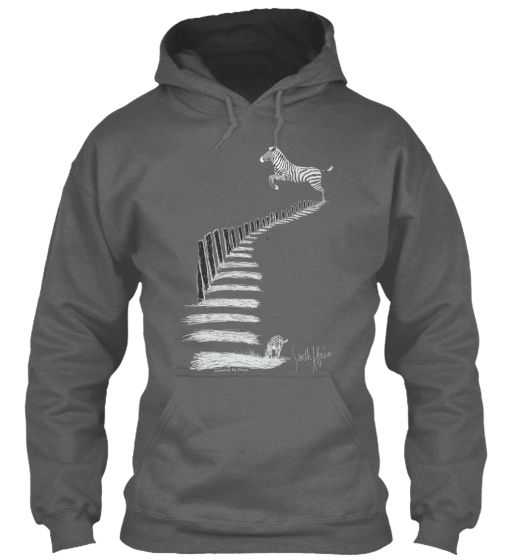 Go Wild with this Zebra Crossing hoodie. Buy yours now.