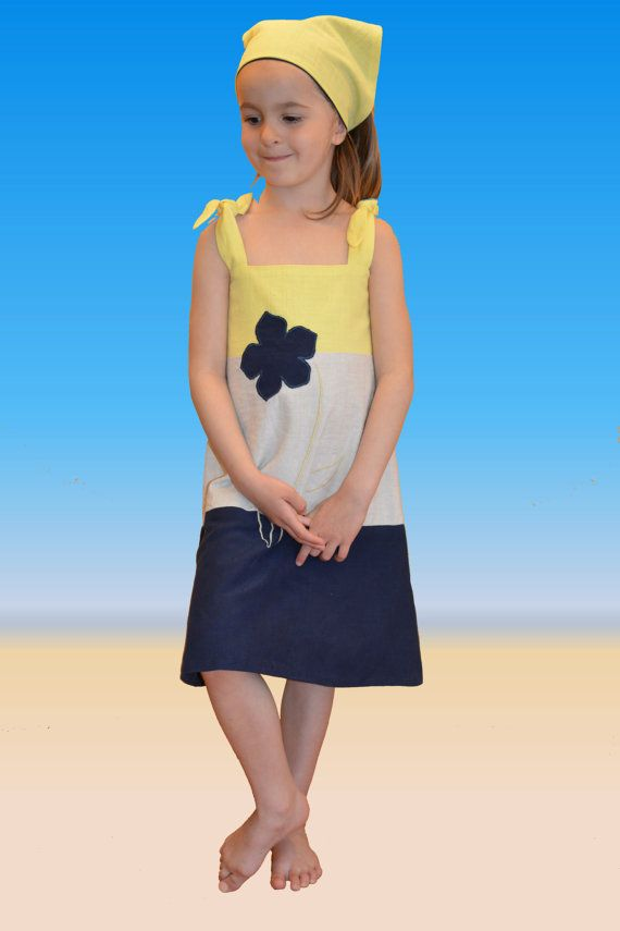 Girl Summer Dress Beach Dress Embroidered by PetiteLettie on Etsy, $54.00