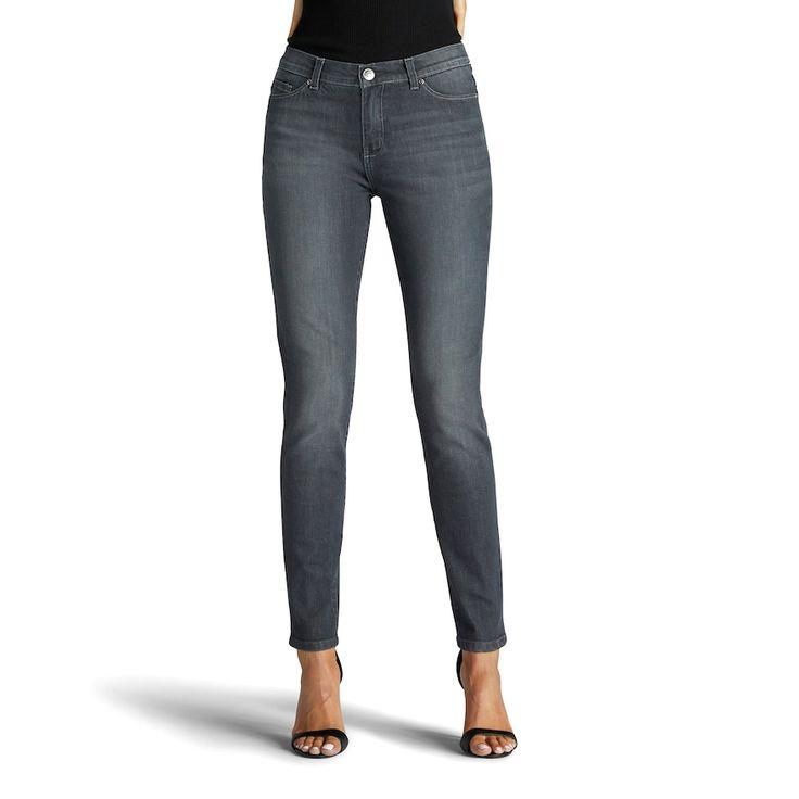 Women's Lee Rebound Slim Fit Skinny Jeans, Size: 8 - regular, Med Grey